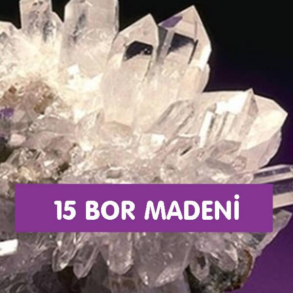 15 Bor Madeni